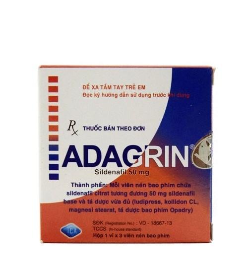 Thuốc cường dương ADAGRIN cải thiện sinh lý nam