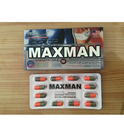 Thuốc cường dương maxman 3800mg con nhộng, Thuốc maxman