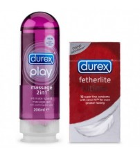 Gel massage Durex 2 trong 1, gel bôi trơn giá rẻ