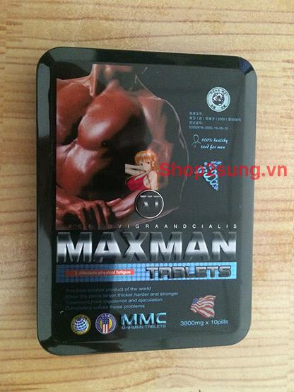 Thuốc cường dương maxman 3800mg trị xuất tinh sớm