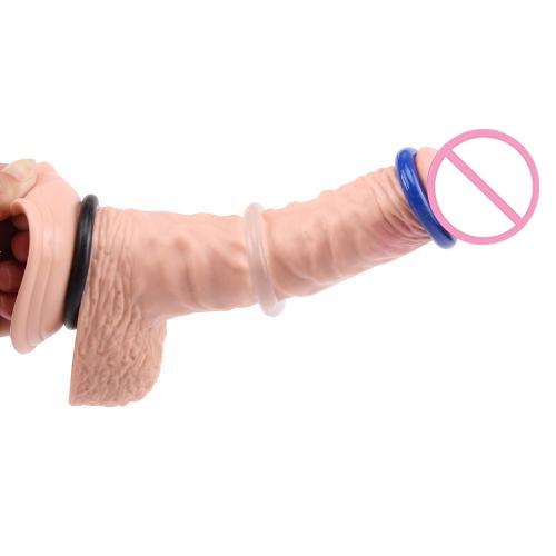 Vòng đeo dương vật hình bánh rán 3 cái, vòng đeo silicon